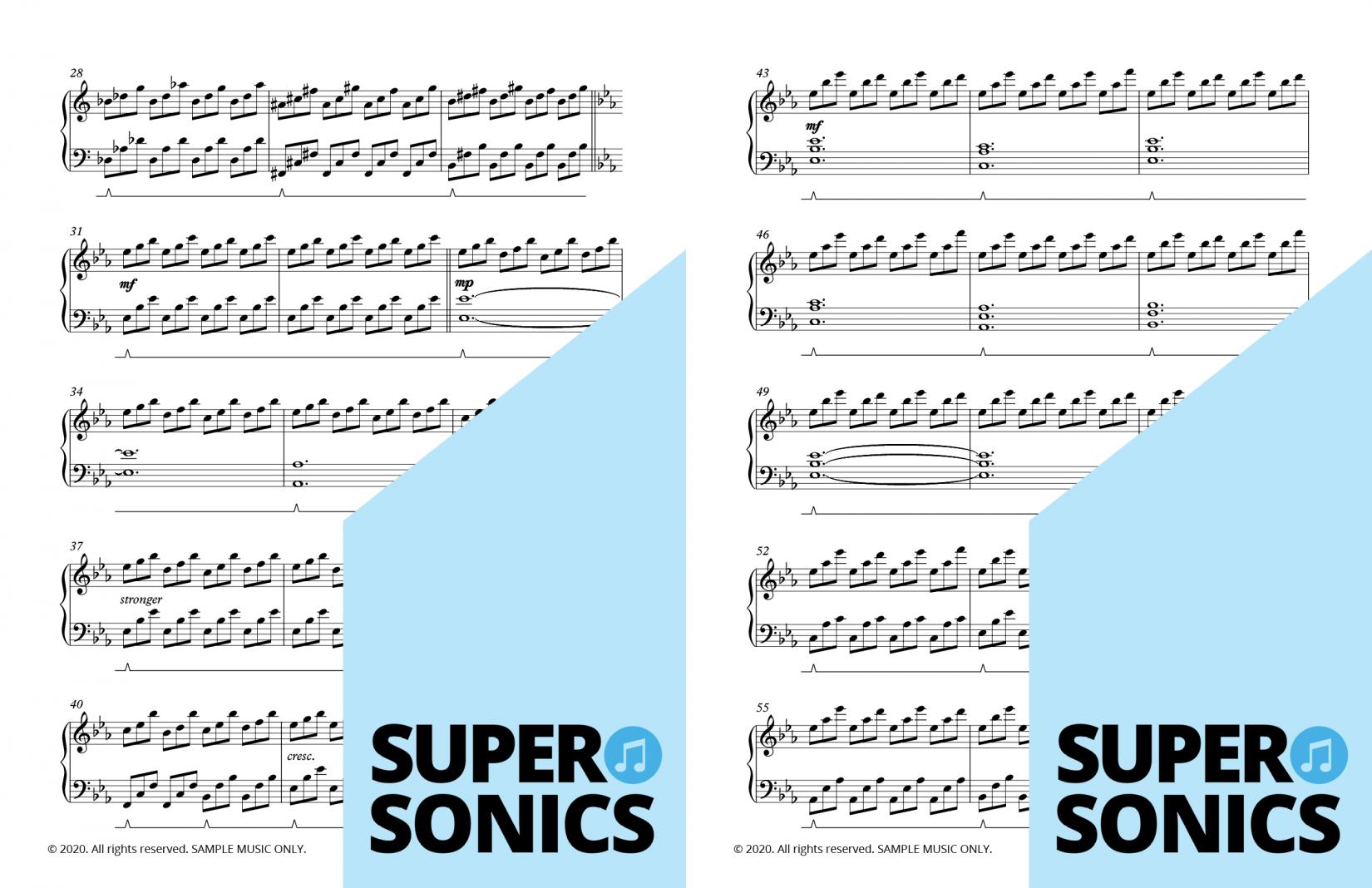 Supersonics Piano Collection Seven sample
