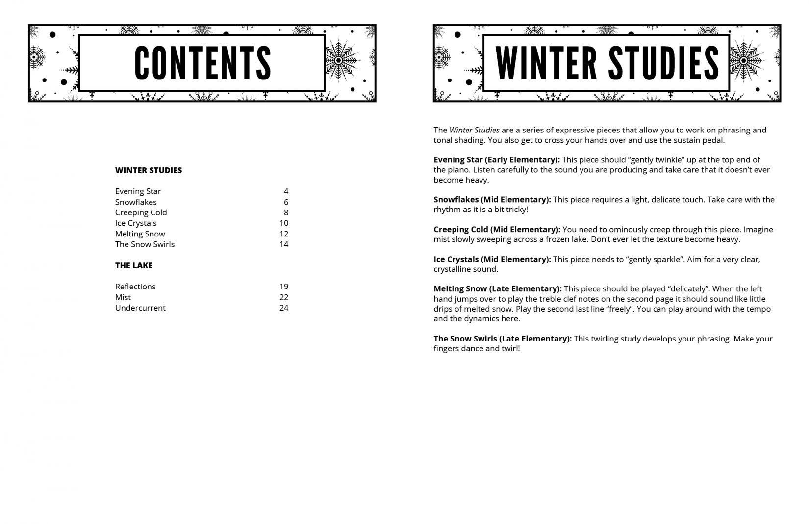 Supersonics Piano Winter Scenes sample
