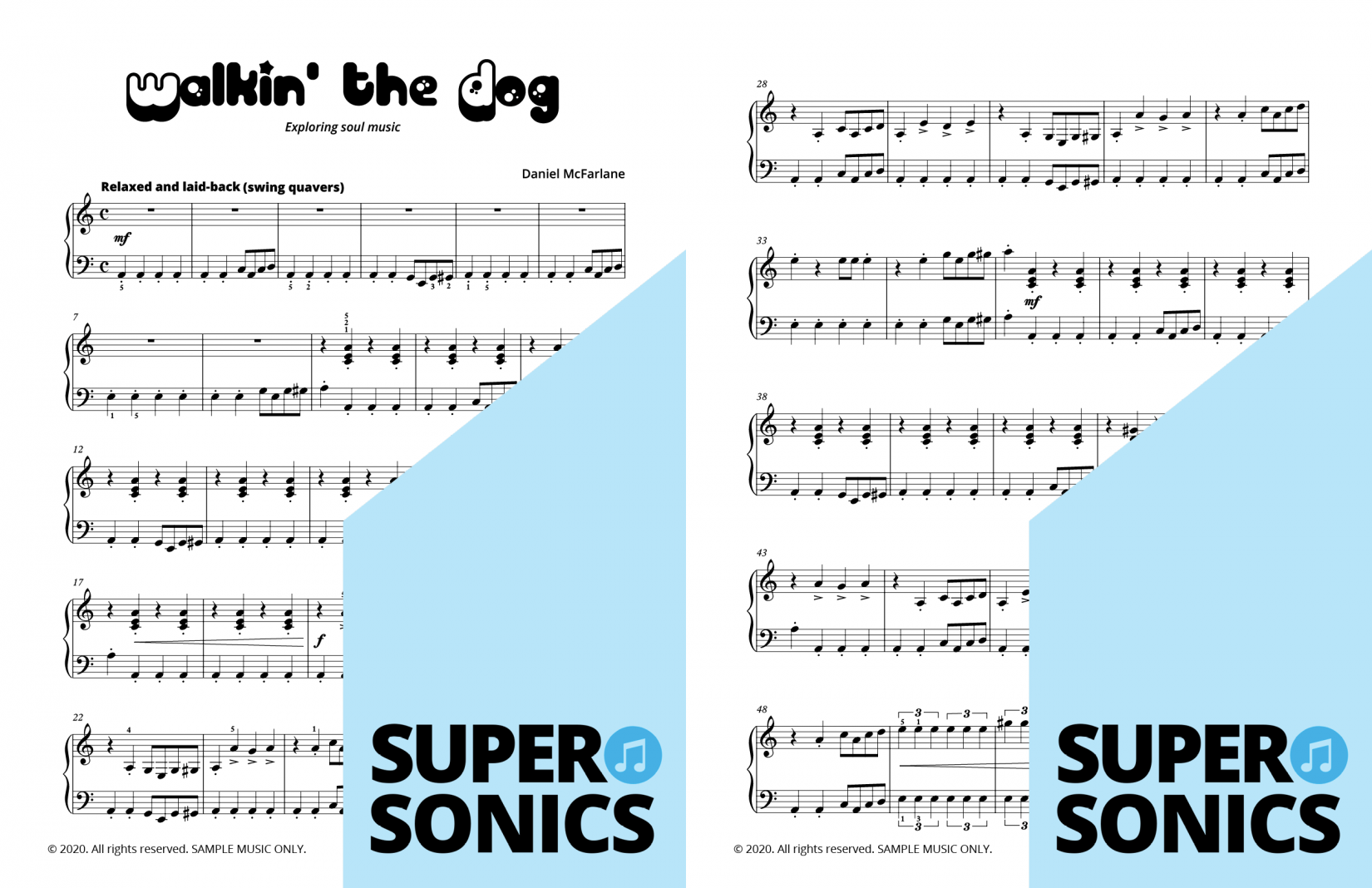 Supersonics Piano Jazzy samples