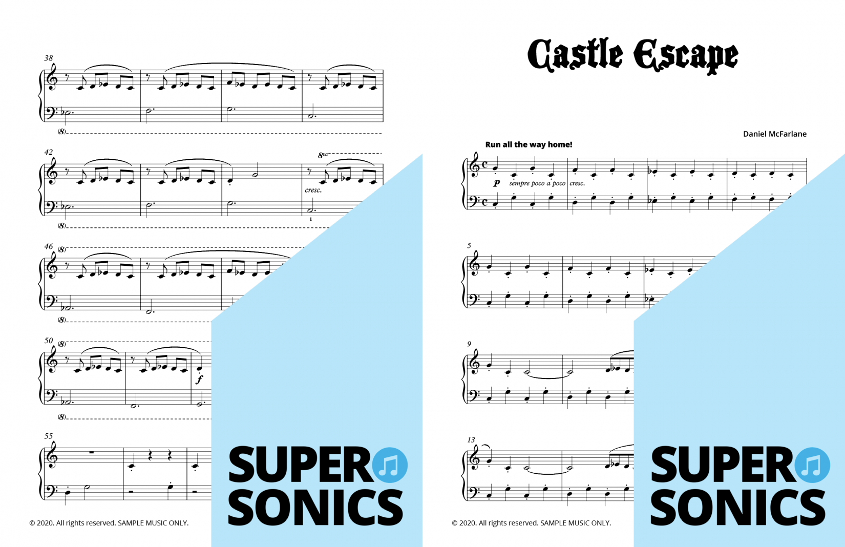 Supersonics Piano Castle Escape 1 sample