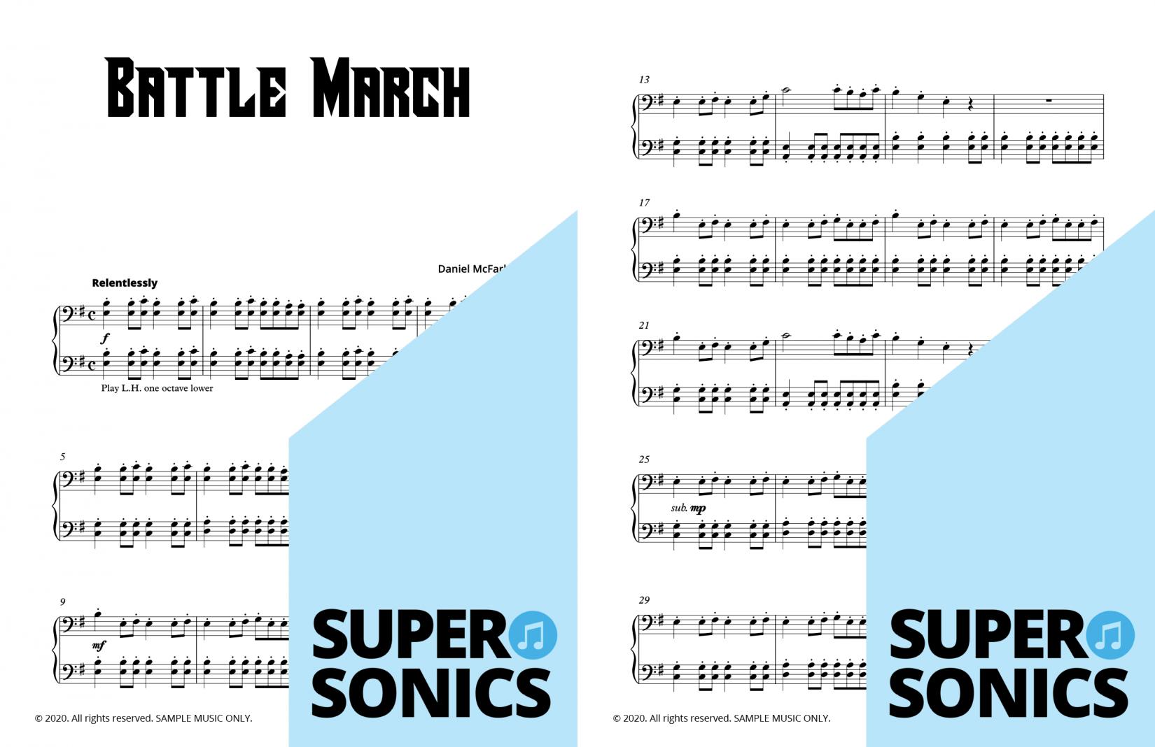 Supersonics Piano Castle Escape 2 sample