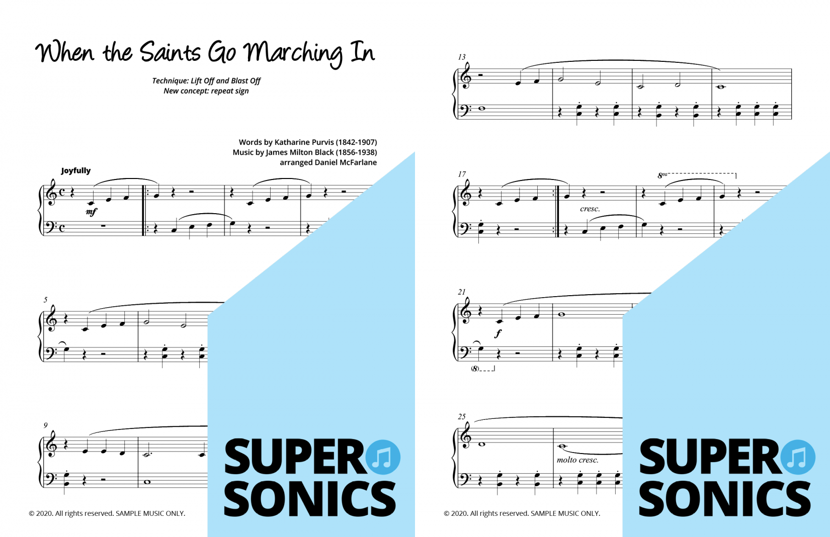 Supersonics Piano Method Level One sample